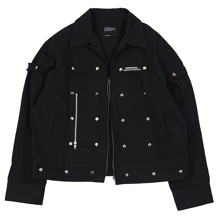 [노매뉴얼]DETACHABLE TRUCKER JACKET - BLACK