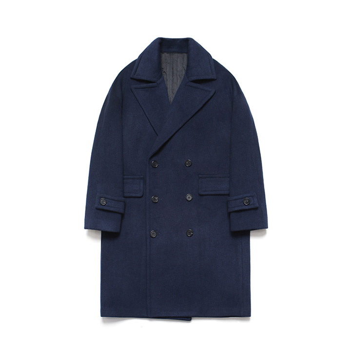 [라퍼지스토어]Wool Over Double Coat_Patient Navy