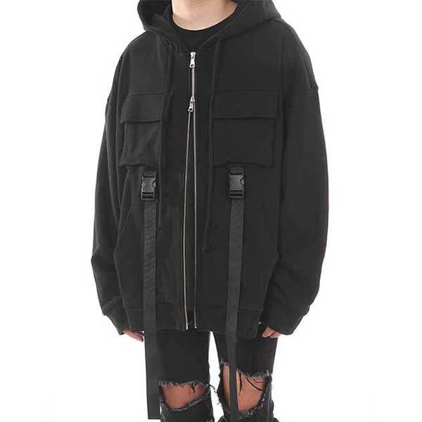 [랑베르시오] 2way Buckle Hood ZIP-UP