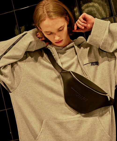 [에드]AFTERIMAGE OVERSIZED TAPING HOODIE GREY