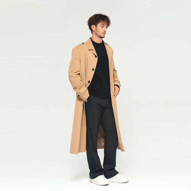 [알로스] Maxi Long Trench coat [Sandstone]