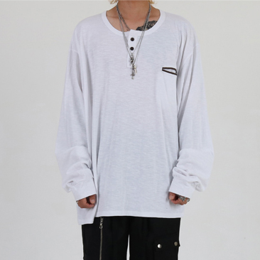 [이노반트]henley neck over long sleeve (white)