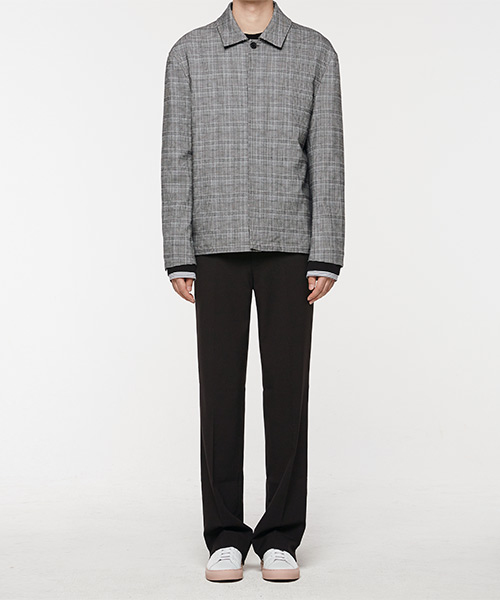 [오엑스스튜디오]18fw Minimal Check Jacket(Gray)