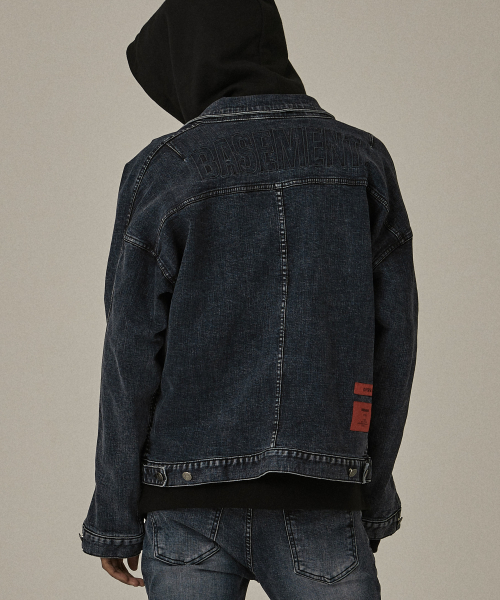 [오베르]18FW BS GRAY WASHING DENIM JACKET