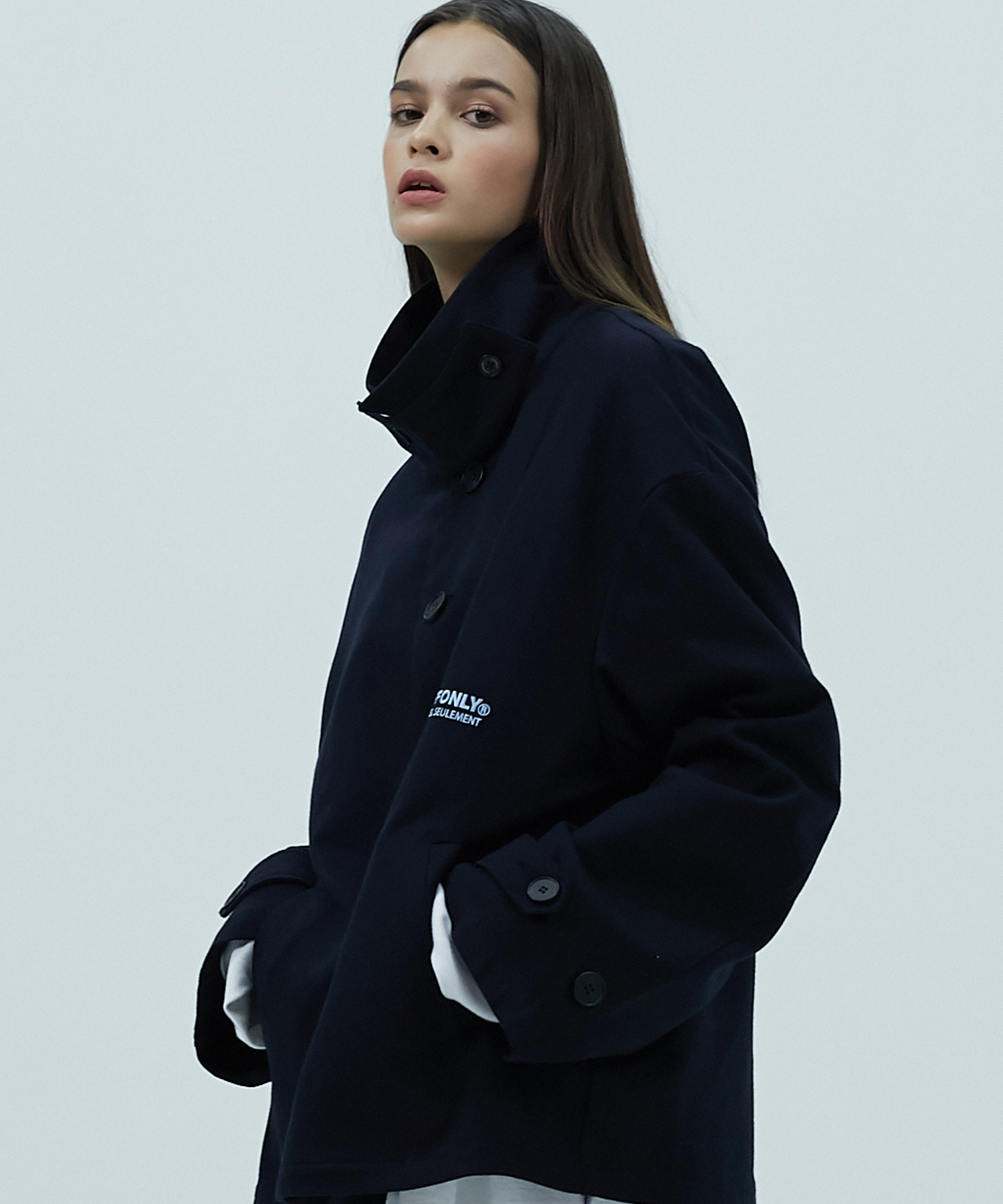 [스텝온리]50L WHEELIE BIN JACKET (NAVY)