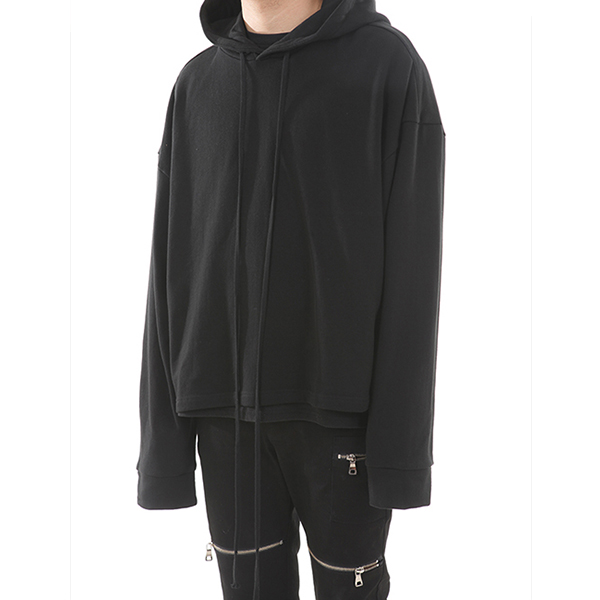 [랑베르시오] Basic Line Over Crop Hoody