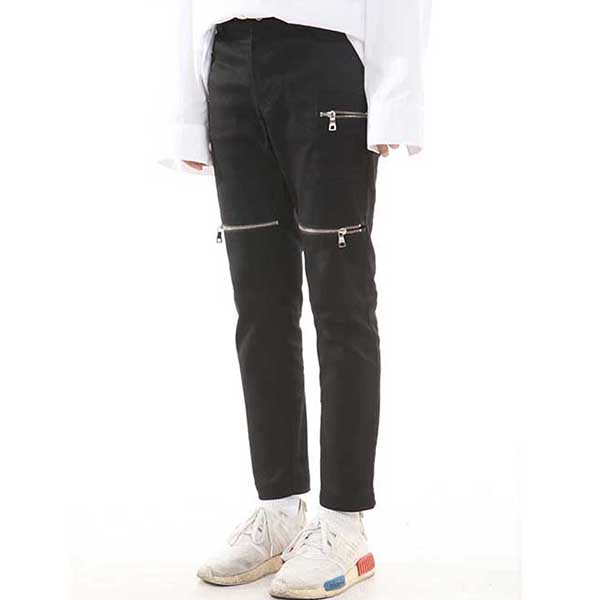 [랑베르시오] Crop Zipper Jeans