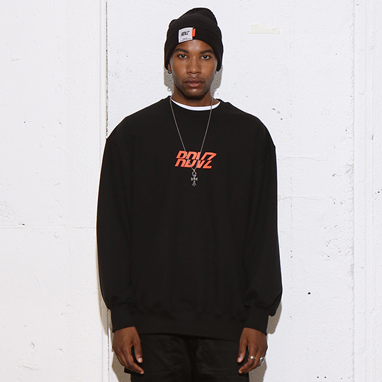 [알디브이제트] RDVZ SWEAT TOP BLACK