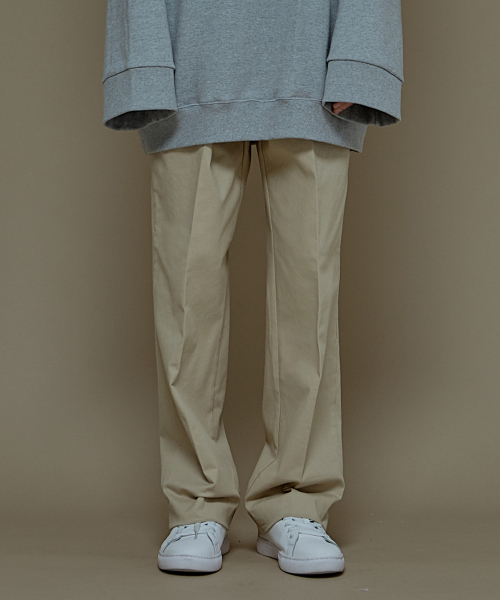 [에드]SUPER WIDE COTTON PANTS BEIGE