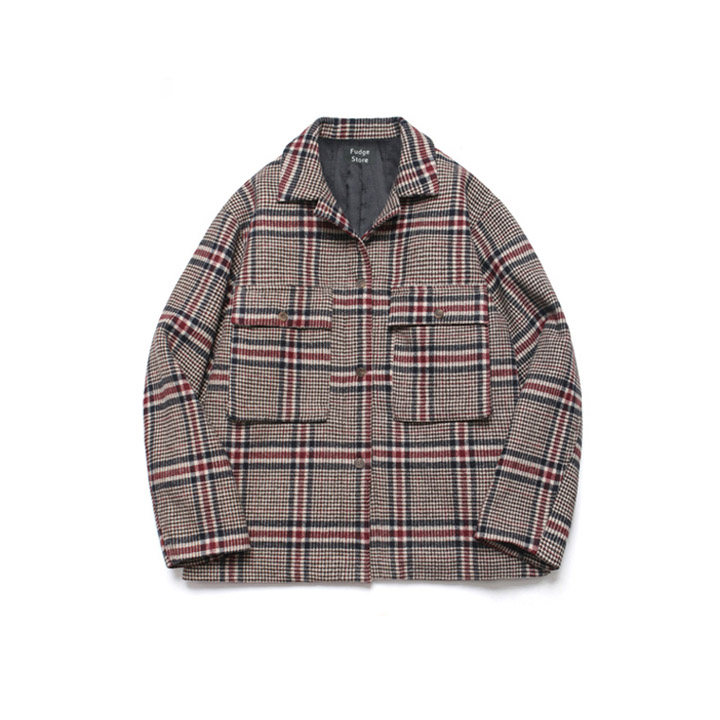 [라퍼지스토어][5온스 퀄팅] Wide Check Wool Trucker_Tatan Check