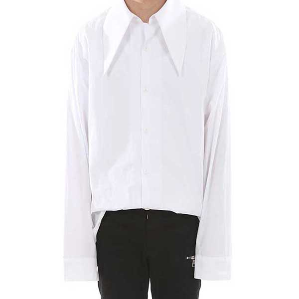 [랑베르시오] Heavy Collar Shirt (WH)