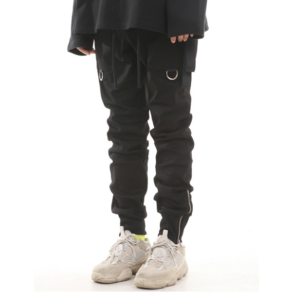 [랑베르시오] Zipper Ring Jogger Pants