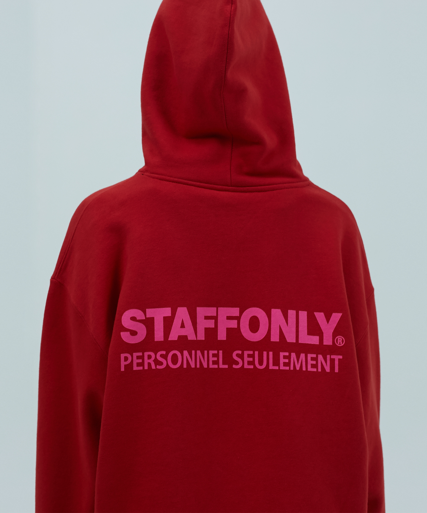 [스텝온리]REGULAR STAFF HOODIE (RED)