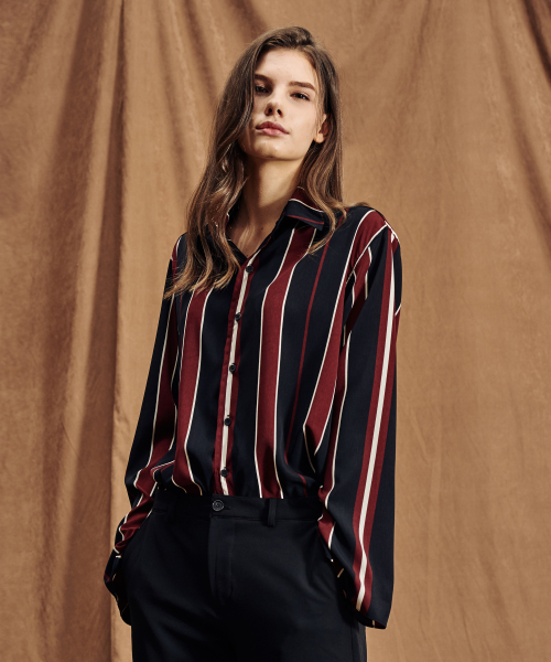 FALL STRIPE SHIRTS BLACK