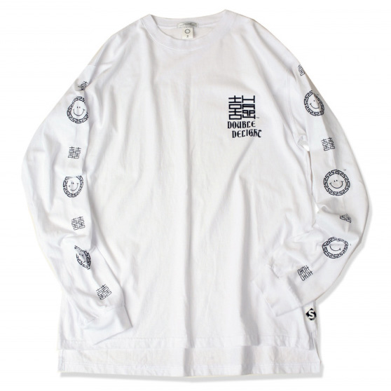 [스웰맙]double delight long sleeve t-shirts  -white-