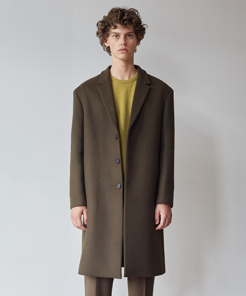 [11/2 예약배송][모노소잉]MONO WOOL SINGLE COAT(KHAKI)