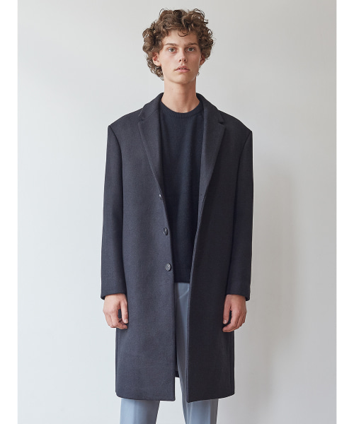 [11/2 예약배송][모노소잉]MONO WOOL SINGLE COAT(BLACK)