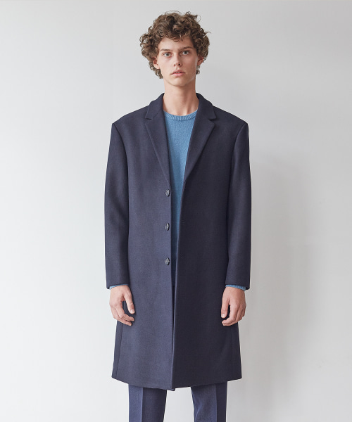 [11/2 예약배송][모노소잉]MONO WOOL SINGLE COAT(NAVY)