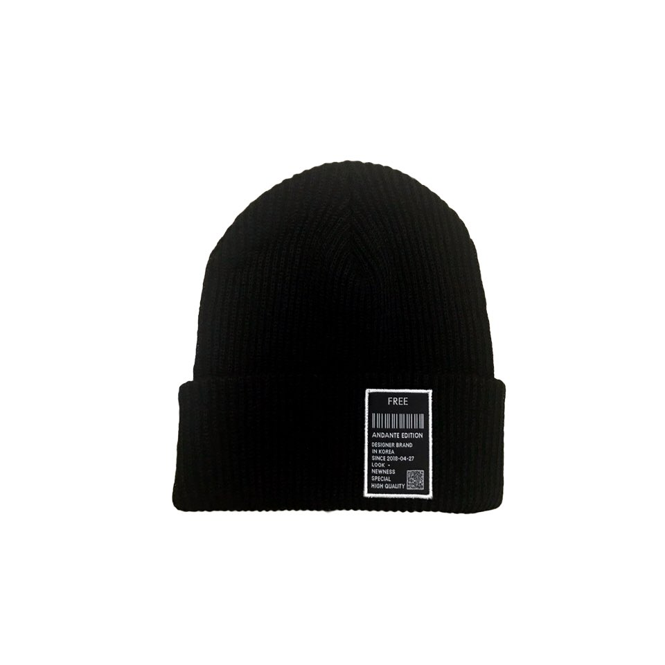 [안단테에디션]Label Short Beanie