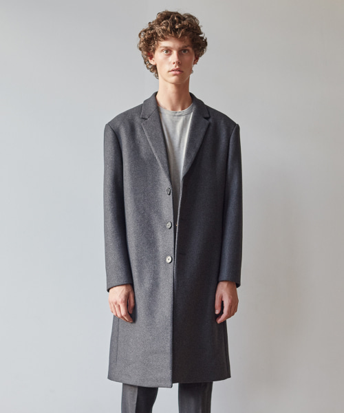 [11/2 예약배송][모노소잉]MONO WOOL SINGLE COAT(GREY)