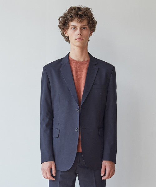 [모노소잉]MONO WOOL SET-UP JACKET(NAVY)