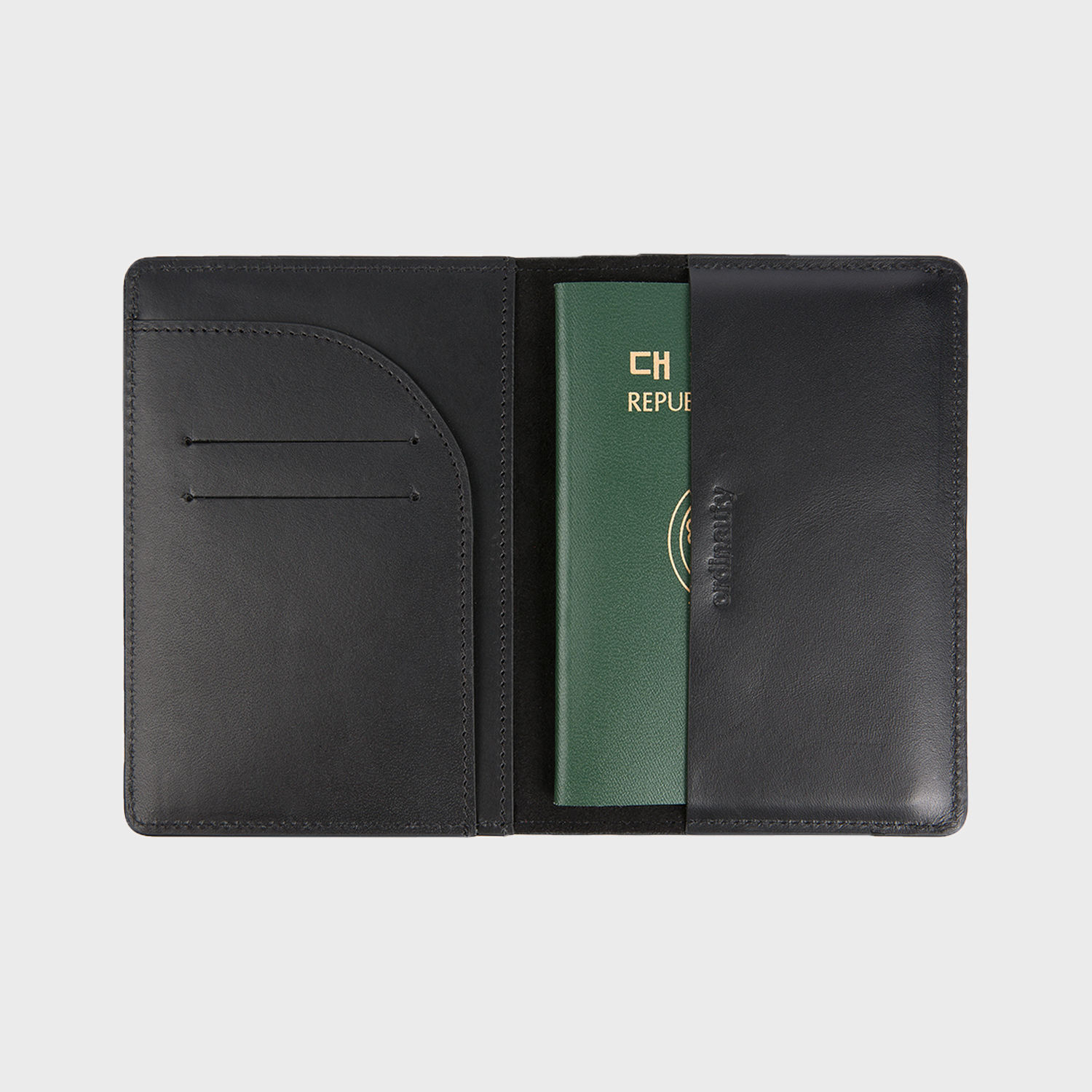 [오디너티]All in 1 PASSPORT BLACK (Buttero, Italy vegetable leather)