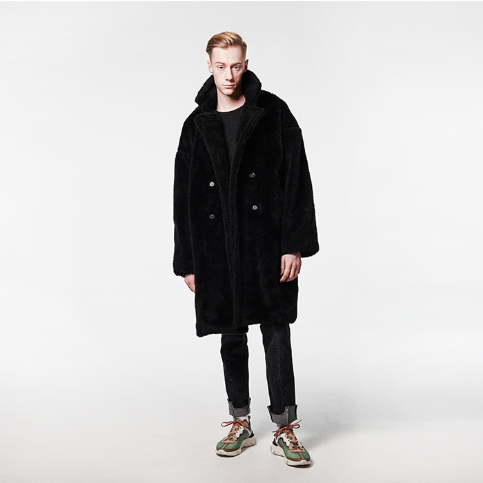 [데드엔드] BLACK FUR LONG COAT