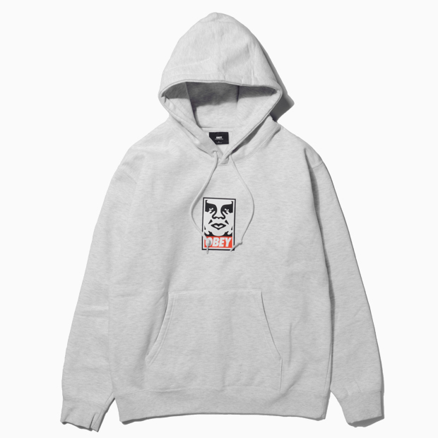 [오베이]OBEY ICON FACE - ASH GREY 후드