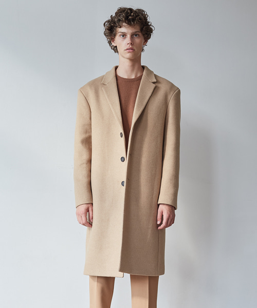 [11/2 예약배송][모노소잉]MONO WOOL SINGLE COAT(BEIGE)