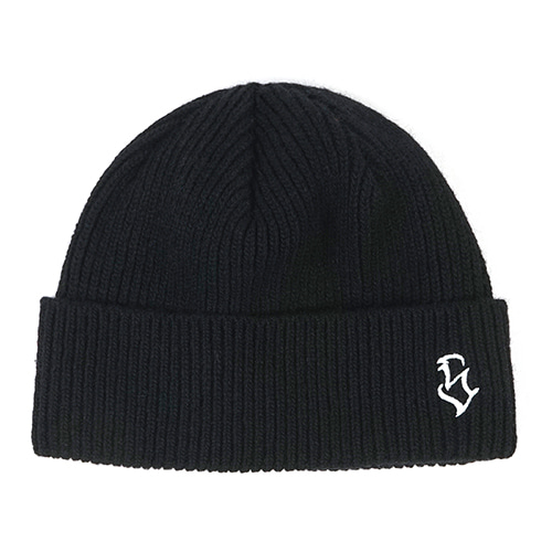 [스티그마]STIGMA S - LOGO WOOL SHORT BEANIE BLACK