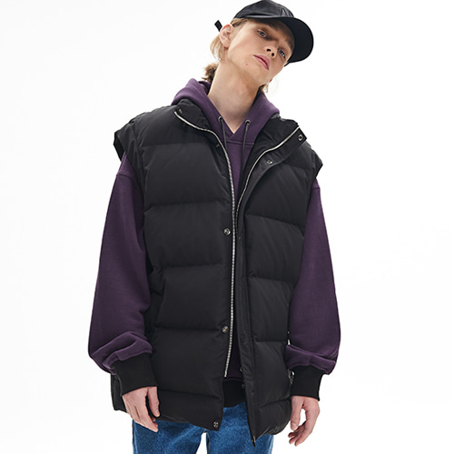 [메종미네드]GOOSE OVER PADDING VEST BLACK