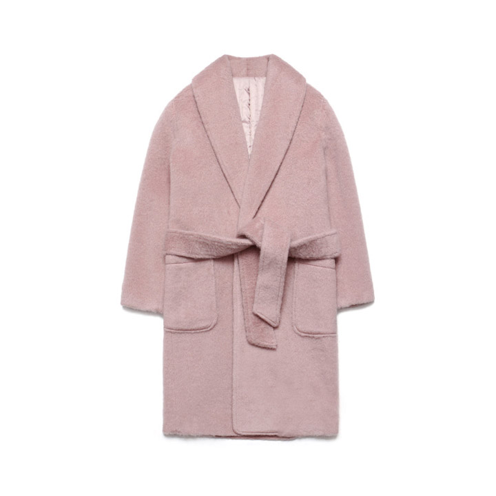 [라퍼지스토어]Teddy Bear Robe Coat_Pink