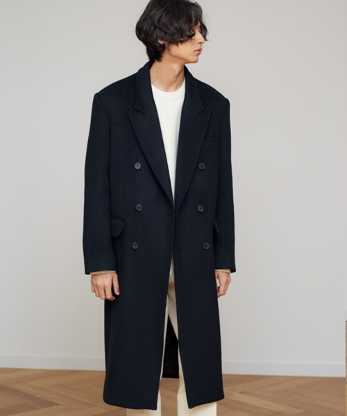 [에스티유]Double coat black