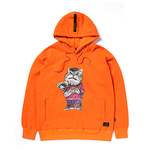 [스티그마]STIGMA CATSGANG HEAVY SWEAT HOODIE ORANGE