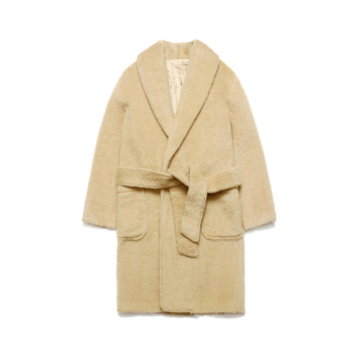 [라퍼지스토어]Teddy Bear Robe Coat_Beige