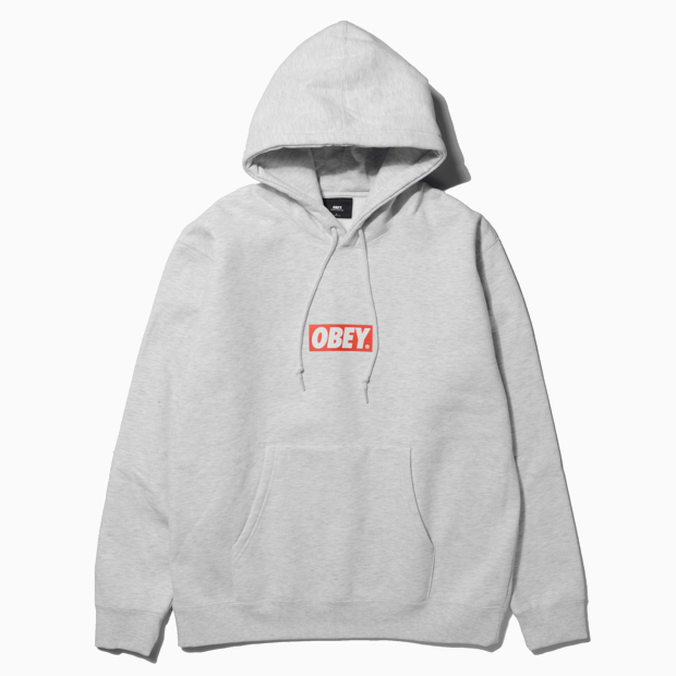 [오베이]OBEY BAR LOGO - ASH GREY 후드
