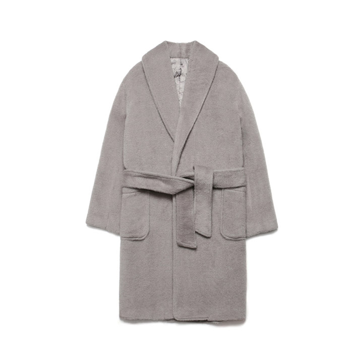 [라퍼지스토어]Teddy Bear Robe Coat_Gray