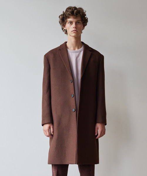 [11/2 예약배송][모노소잉]MONO WOOL SINGLE COAT(BROWN)