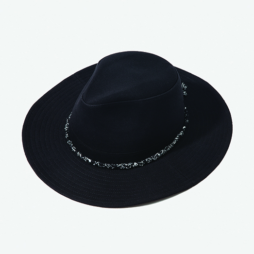 [아웃모드] COTTON BANDANNA FEDORA - BLACK
