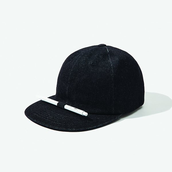 [아웃모드] DENIM PENCIL CAP - BLACK DENIM