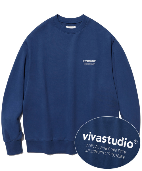 [비바스튜디오]LOCATION LOGO CREWNECK HA [INDIGO BLUE] 개인결제창