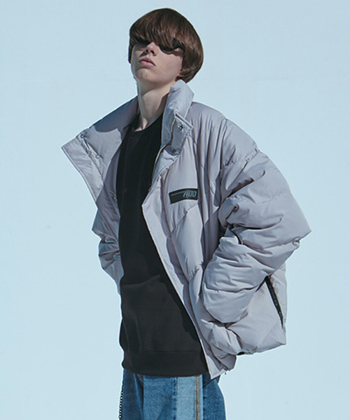 [에드]HEAVY DUCK PUFFER JACKET LIGHT GREY