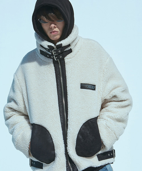[에드]HEAVY FLEECE JACKET IVORY