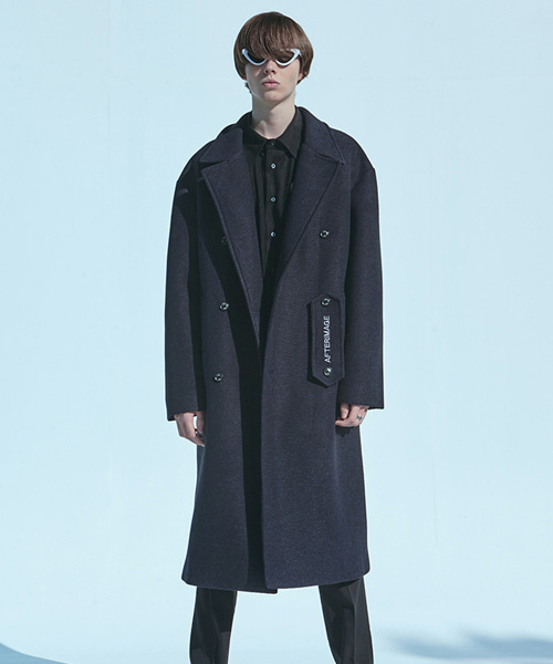 [에드]NEOPRENE DOUBLE WOOL COAT NAVY