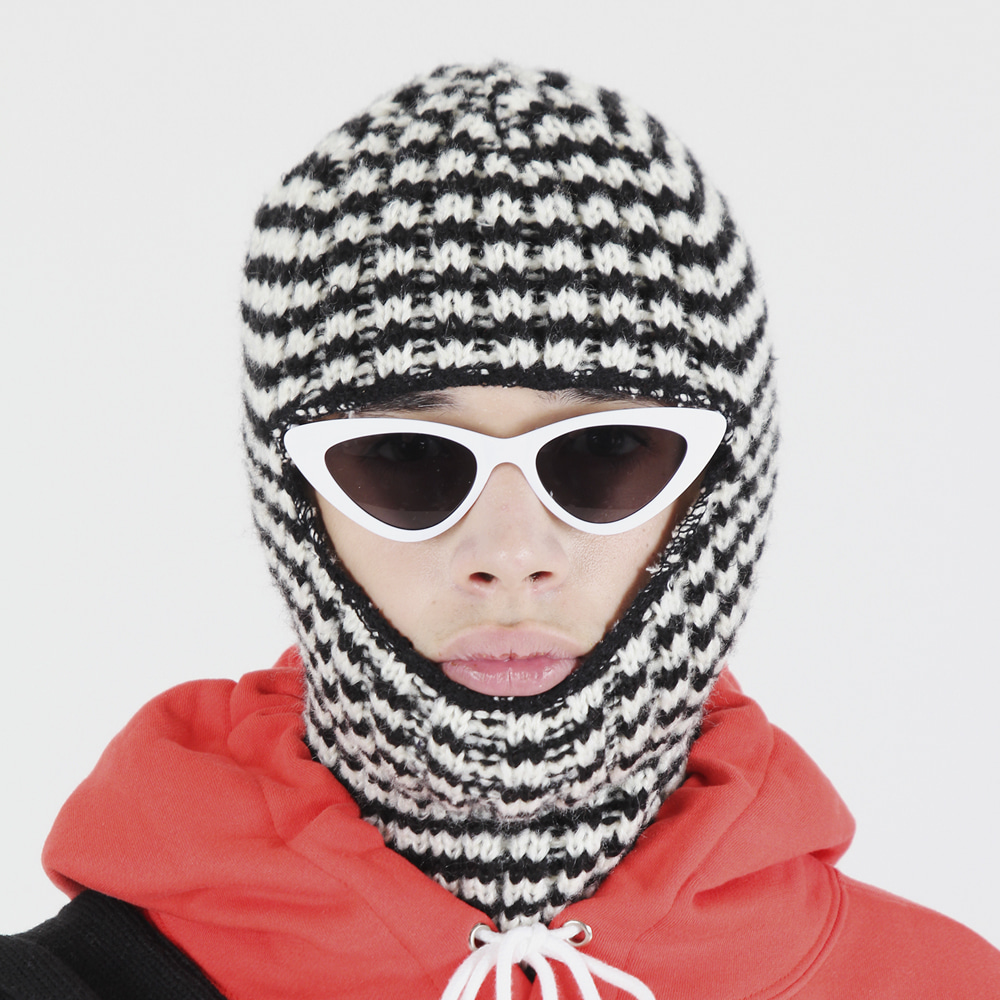 [피스메이커]STRIPE BALACLAVA (BLACK)