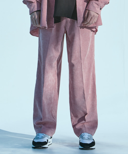 [에드]CORDUROY WIDE PANTS PINK