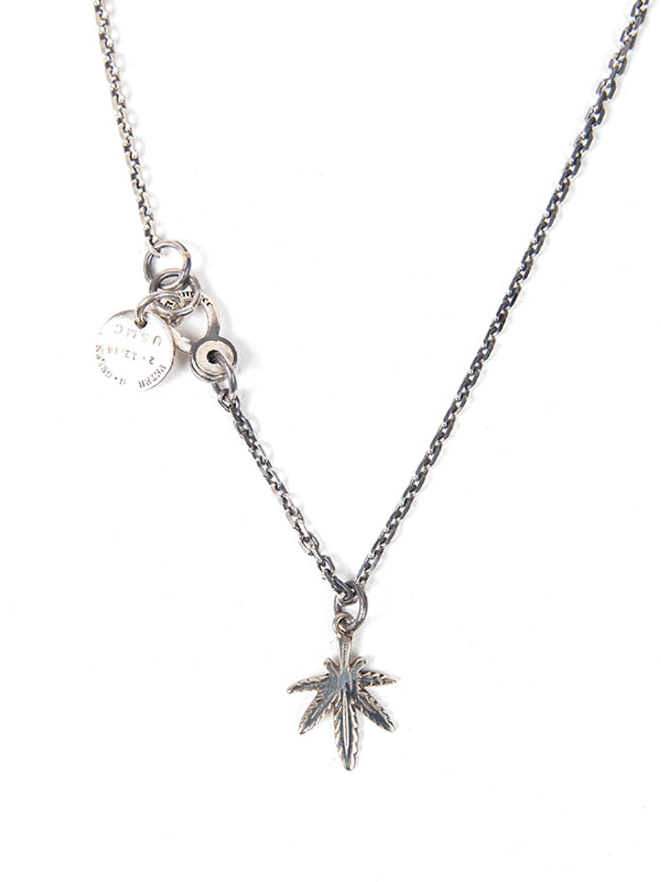 [에이징CCC]349# SMALL CANNABIS NECKLACE