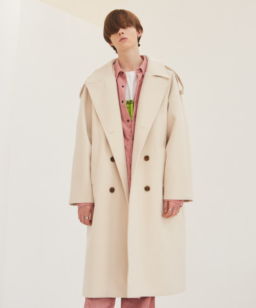 [에드]OVERSIZED THINSULATE TRENCH COAT BEIGE