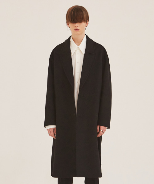 [에드]CASHMERE ROBE COAT BLACK