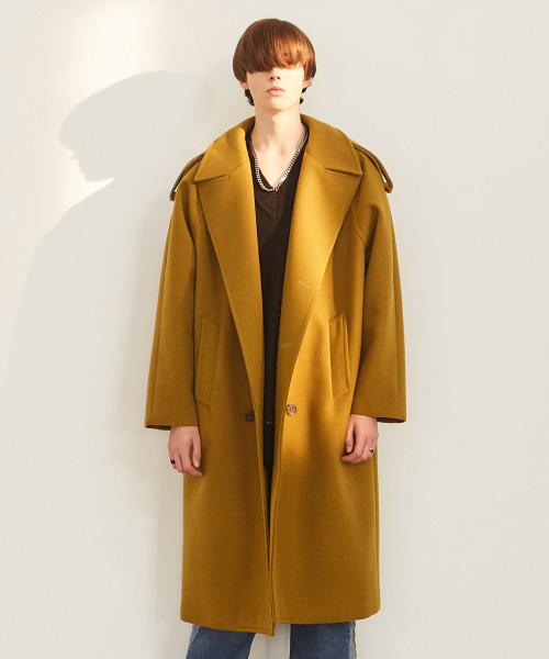 [에드]OVERSIZED THINSULATE TRENCH COAT LIGHT KHAKI
